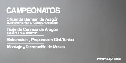 Bases definitivas de los Campeonatos de Maîtres y Coctelería de Aragón