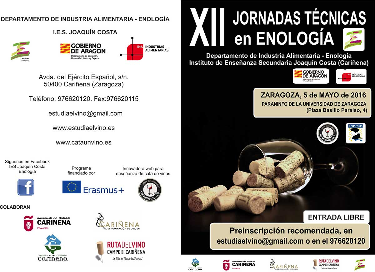 XII Jornadas técnicas de Enología del IES Joaquín Costa de Cariñena