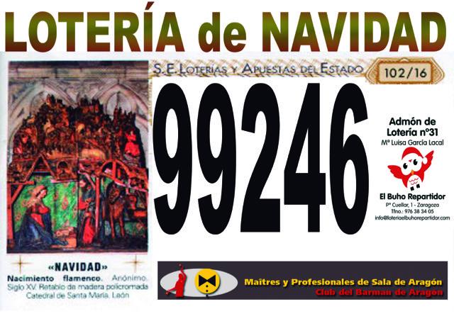 LOTERÍA DE NAVIDAD DE LA ASOCIACIÓN 2016.