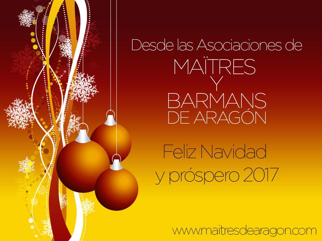 FELICITACIÓN NAVIDEÑA DE MAÎTRES Y BARMANS DE ARAGÓN