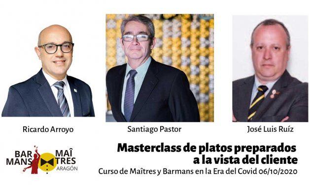 curso de maîtres y barmans: platos a la vista del cliente 06/10/2020