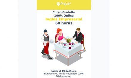 Grupo piquer:  EL CURSO INGLÉS PARA HOSTELERÍA Y TURISMO (60 horas). Enero de 2021.